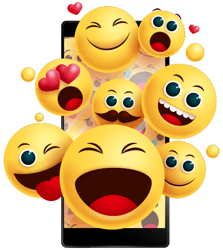 Emojis out of mobile phone